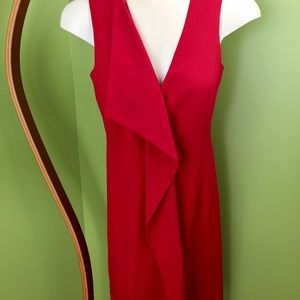 Beautiful sleeveless red Calvin Klein dress
